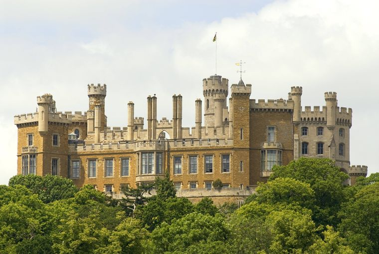 Das Belvoir Castle in Leicestershire.