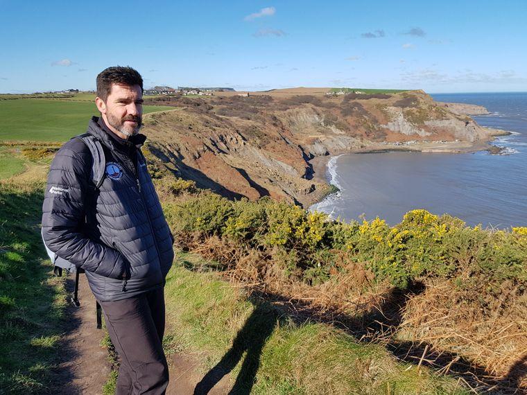 Malcolm Hodgson, Park Ranger beim North-York-Moors-Nationalpark, kümmert sich mit seinen Kollegen um den Küstenwanderweg, er kennt ihn wie seine Westentasche.