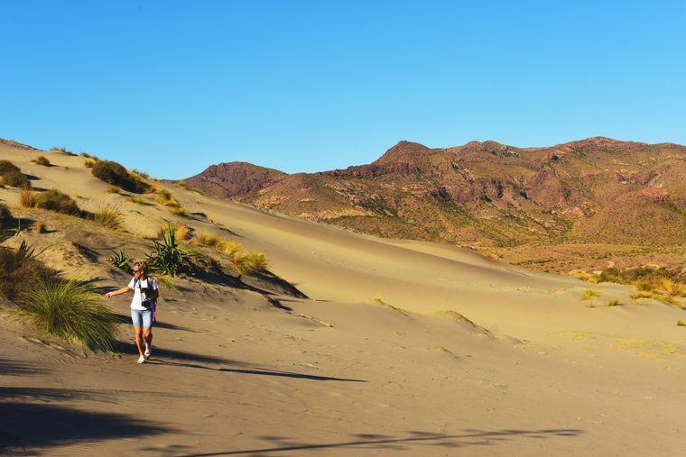 Wunderschöne Sanddünen in der Bucht von Monsul, San Jos.