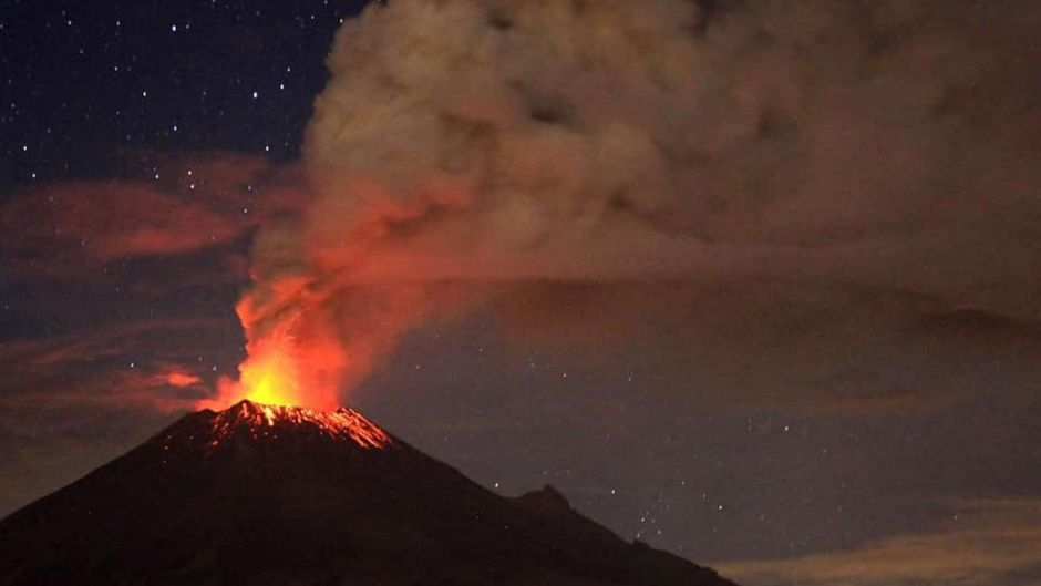Der Ausbruch des Popocatépetl war in den umliegenden Dörfern zu hören.