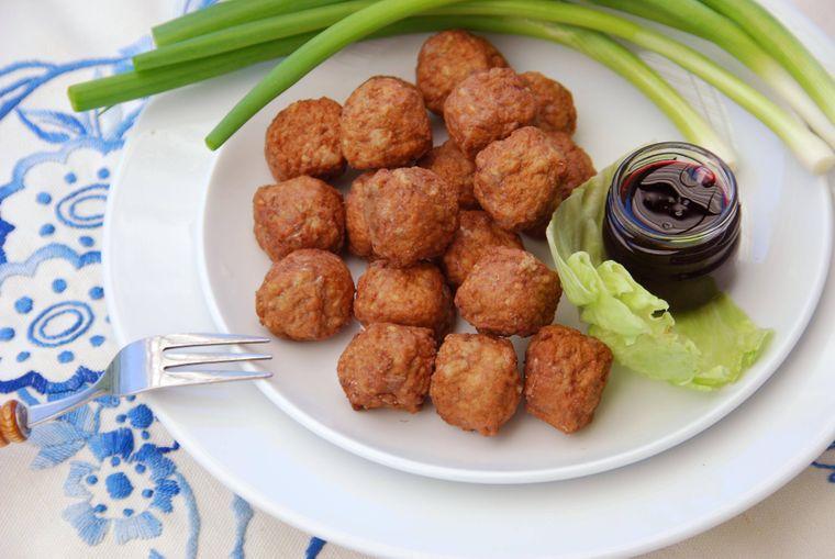 Köttbullar, traditionelles schwedisches Gericht.