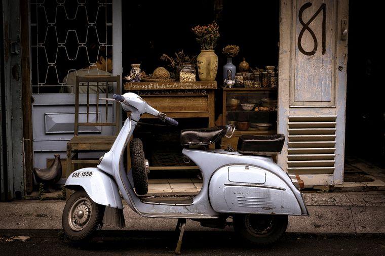 Eine Vespa in Ho Chi Minh
