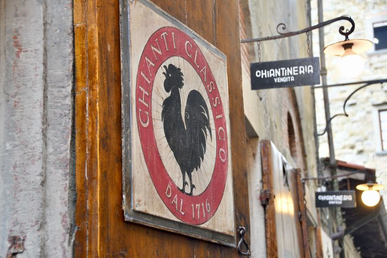 Das offizielle Logo, das auf den Chianti-Weinen prangt