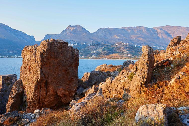 Ein wundervoller Blick auf die Küste bei Plakias auf Kreta.