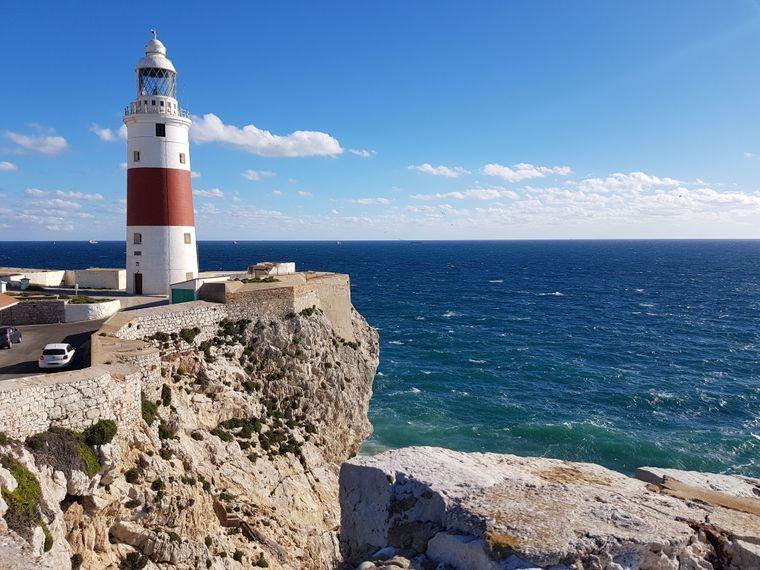 An der Südspitze von Gibraltar, dem Europa Point, steht seit 1841 ein Leuchtturm.