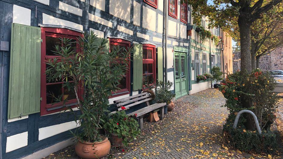 Die ältesten Fachwerkhäuser Templins stehen in der Rühlstraße.