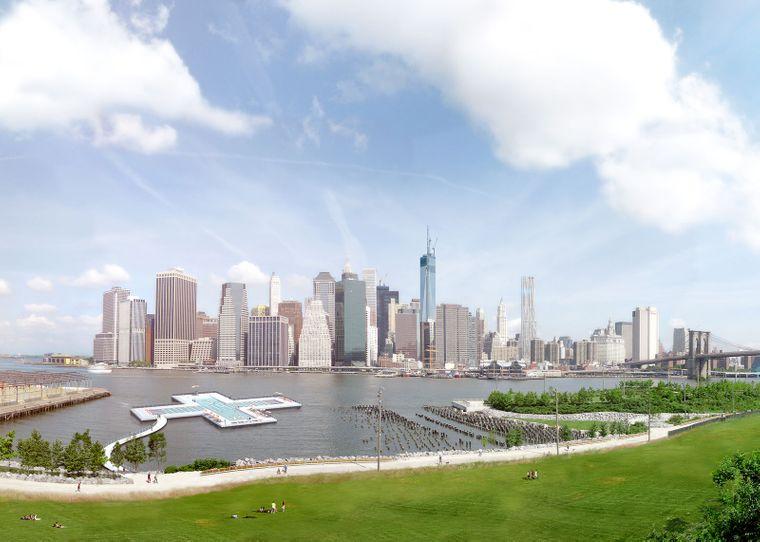 Der Plus-Pool soll für New Yorks Bevölkerung und Touristen als Abkühlung bei sommerlichen Temperaturen dienen.