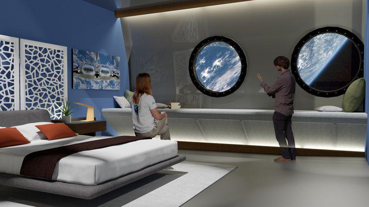 So könnten die Hotelsuiten im Weltallhotel aussehen.