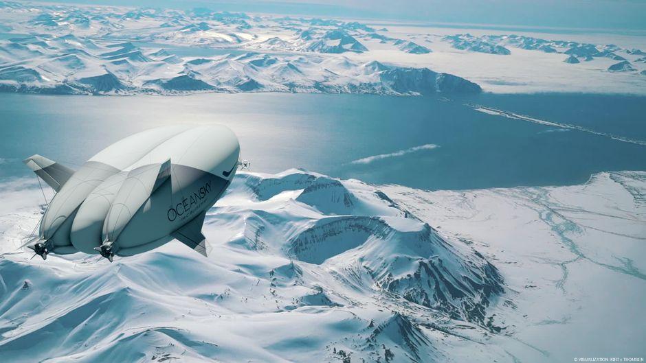 Ab 2024 sollen Reisende im Luftschiff über den Nordpol schweben.