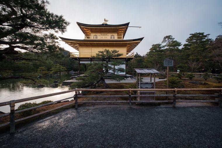 Kinkaku-ji, Goldener Pavillon, in Kyoto, Japan.