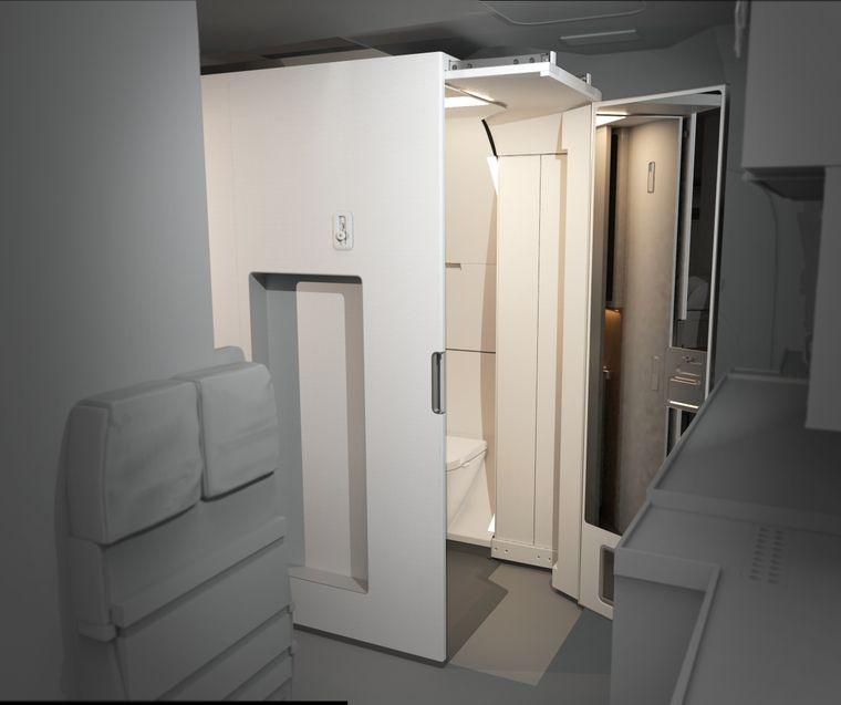 Flugzeugtoilette Access.