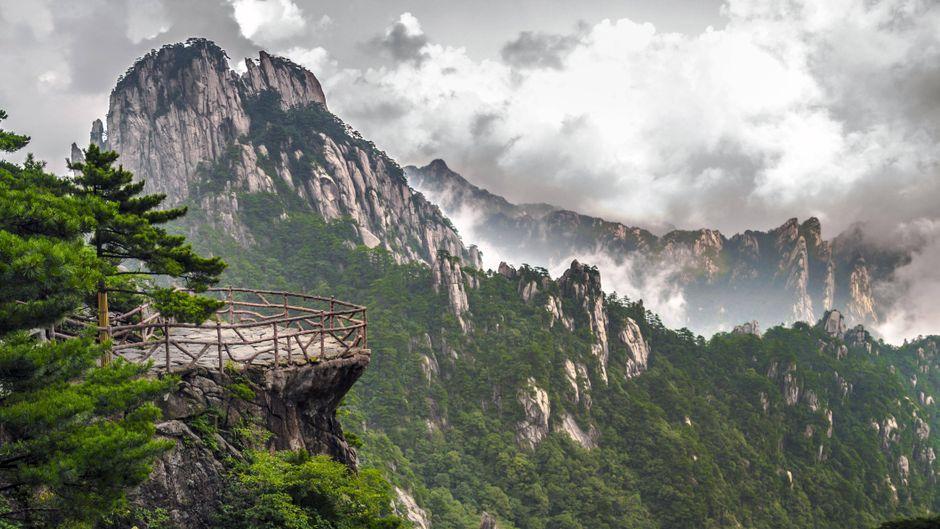 Bergkulisse im Huangshan-Nationalpark.
