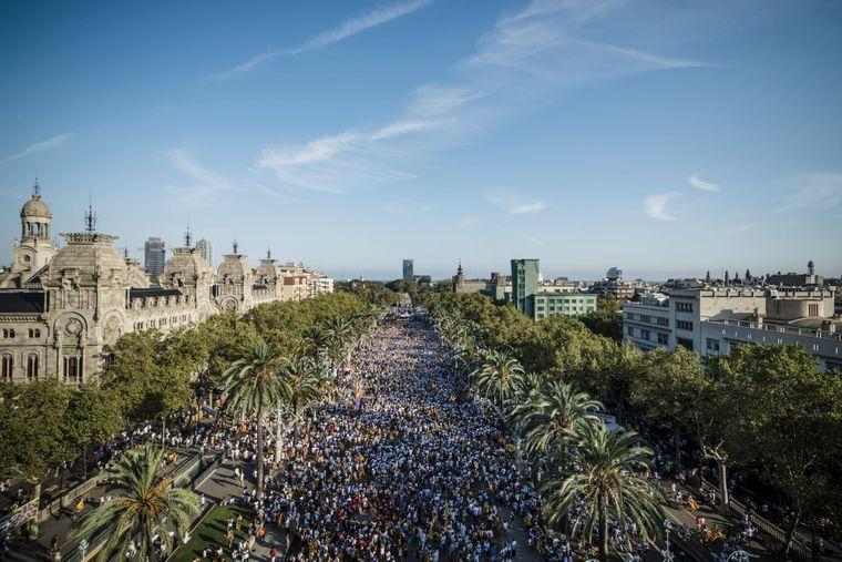 Die Passeig de Sant Joan bietet jede Menge Platz.