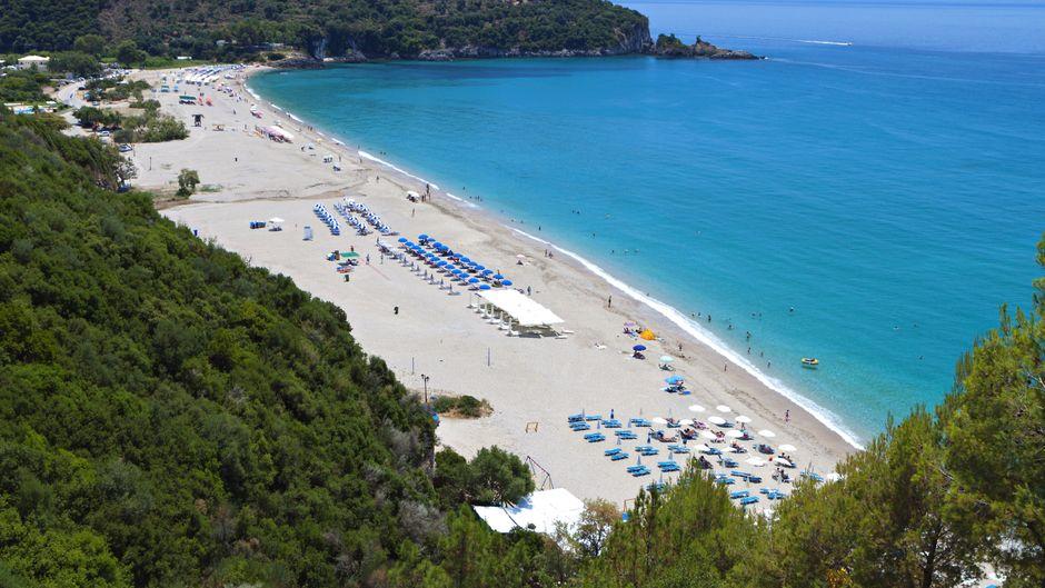 Der Karavostasi Beach auf Kreta.