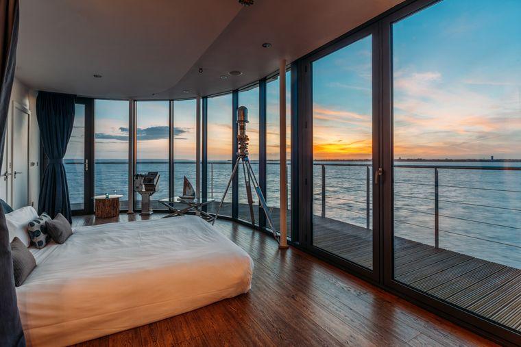 """Der Ausblick aus einer Suite im """"Spitbank Fort"""""""