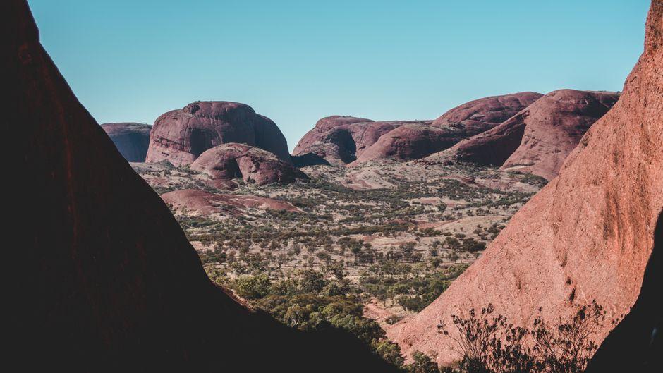 Blick auf die Olgas (Kata Tjuta) in Australien.
