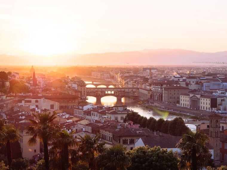 Blick auf Florenz in der Toskana, Italien.