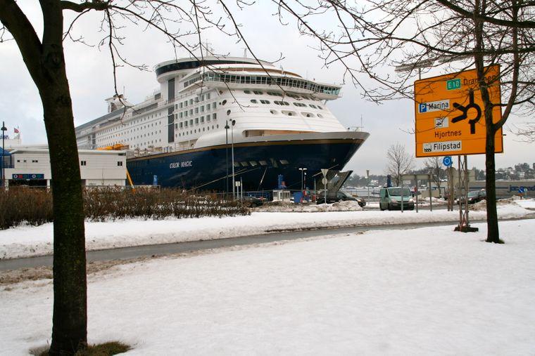 Oslo ist mit Schnee bedeckt. Die Color Magic ist gegen die winterlichen Witterungsbedingungen immun.