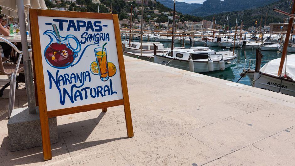 Meer- oder Marinablick beim Abendessen? Kein Problem in Port de Sóller auf Mallorca!