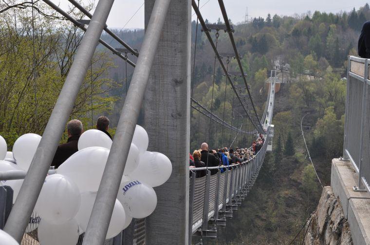 Eröffnung Hängebrücke Titan RT im Harz