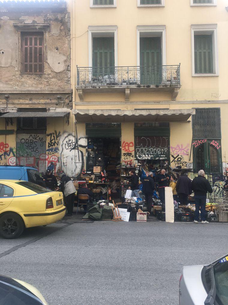 Hippe Straßen gibt es auch in Athen.