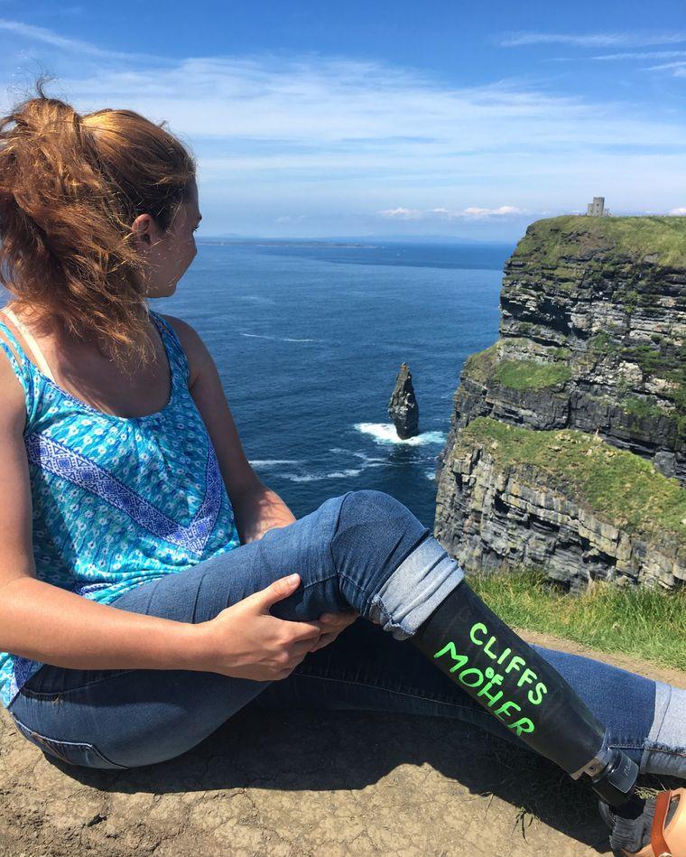 Die Amerikanerin Devon Gallagher während ihrer Europa Reise