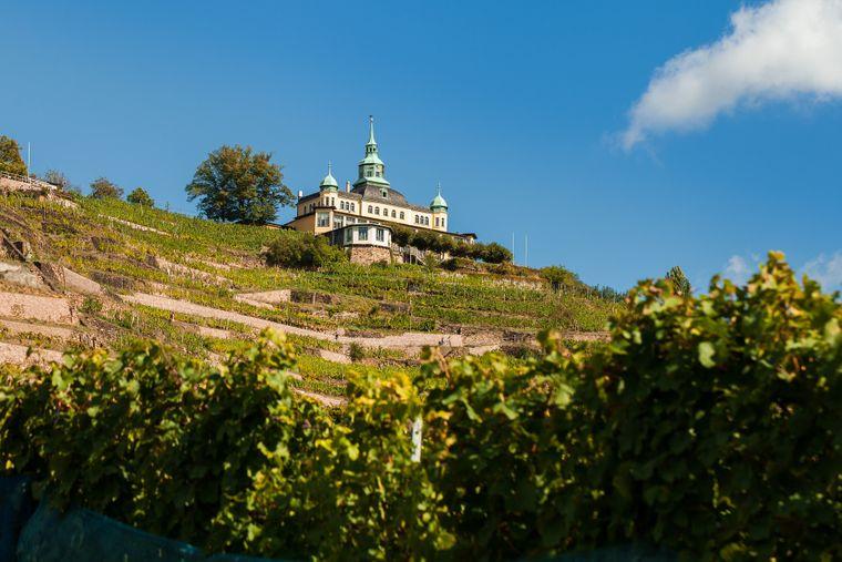 Das Spitzhaus auf dem Lößnitzhang ist eines der bekanntesten Wahrzeichen Radebeuls.