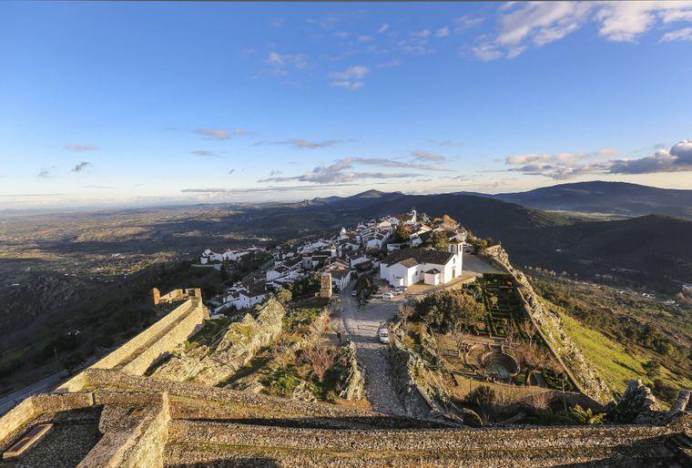 Von dem Marvao Schloss überblickt man die gesamte Region rings um das Dorf.