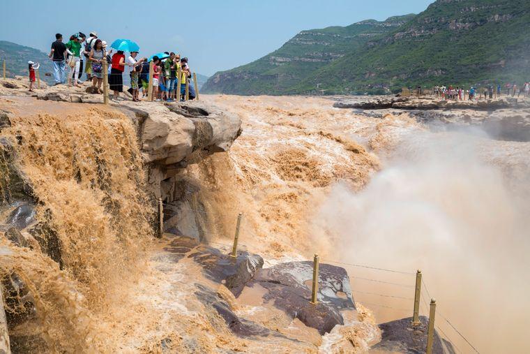 Hukou-Wasserfall in der chinesischen Provinz Shaanxi.