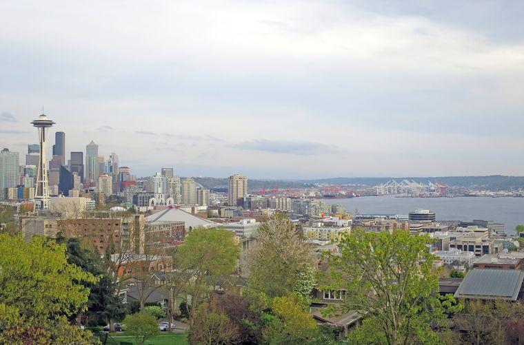 Der Blick vom Kerry Park in Seattle ist einer der Drehorte, die von den Darstellern und der Film Crew von Grey's Anatomy benutzt wurden.
