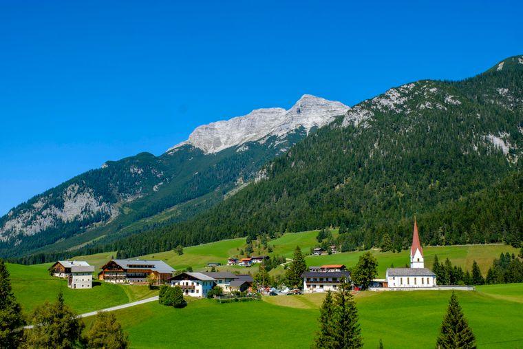 Steinberg am Rofan vor Guffert in Österreich.