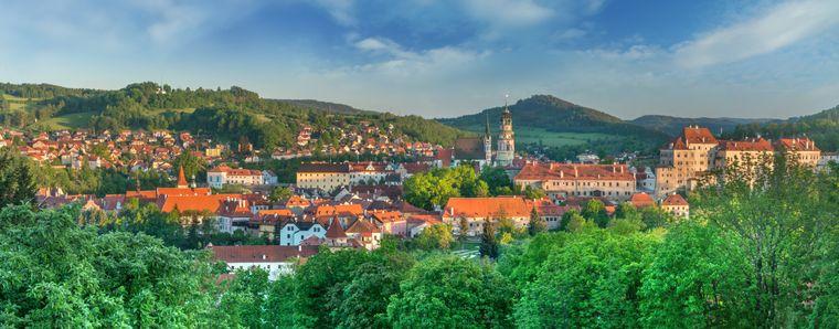 Die mittelalterliche Innenstadt von Český Krumlov zählt zum Unesco-Weltkulturerbe.