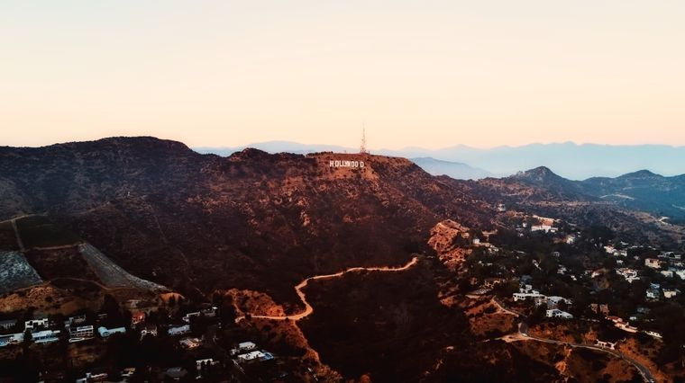 Der Hollywood-Schriftzug in den Hügeln von Los Angeles.