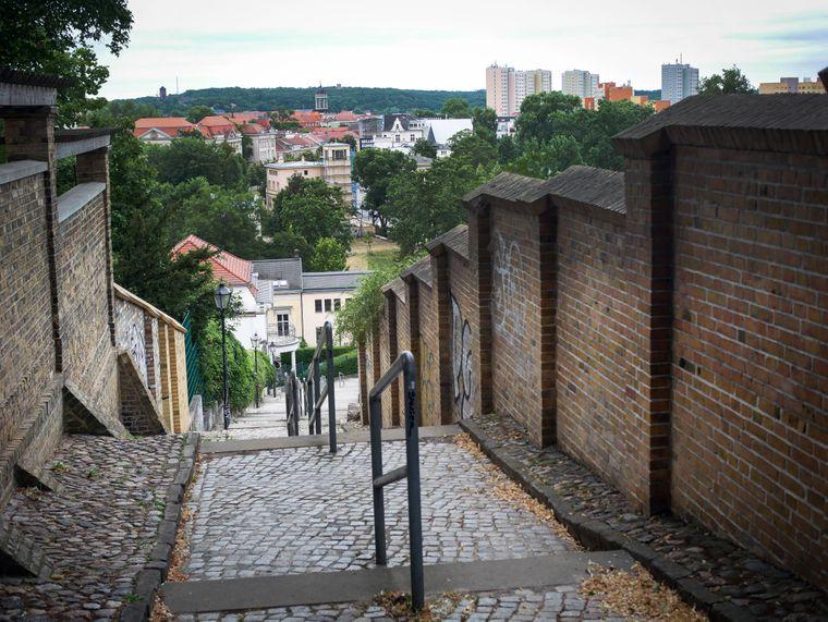 Der Mühlenbergweg führt zu einem tollen Aussichtspunkt auf Potsdam.