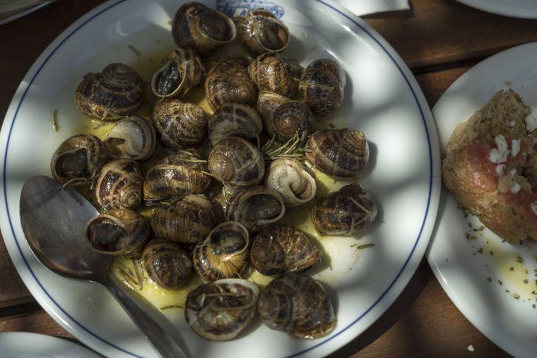 Kretische Spezialitäten: Schnecken sind ein Inselgericht, das bereits die Minoer zubereiteten.