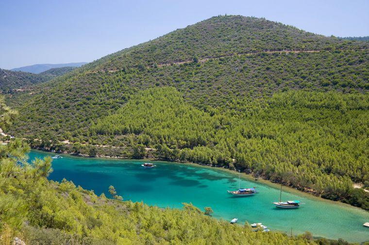 Die Paradise Bay in Bodrum ist ein beliebter Hotspot für Taucher und Badeurlauber.