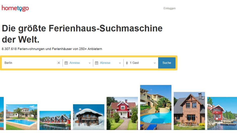 Die Plattform hometogo.de ist nach Angaben der Gründer weltweit die größte Suchmaschine für Ferienhäuser und Ferienwohnungen.