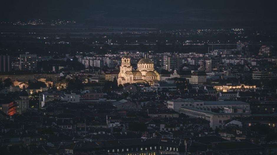 Sofia bei Nacht.