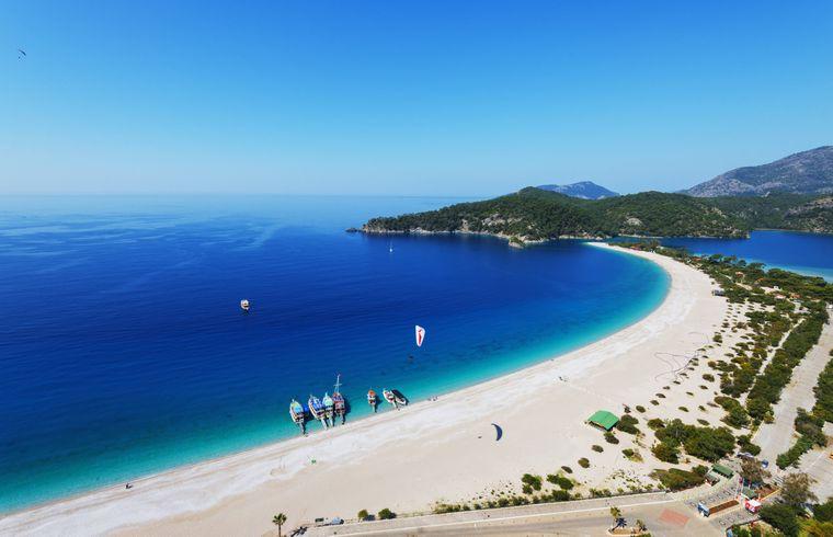 Ölüdeniz-Strand in der Türkei.