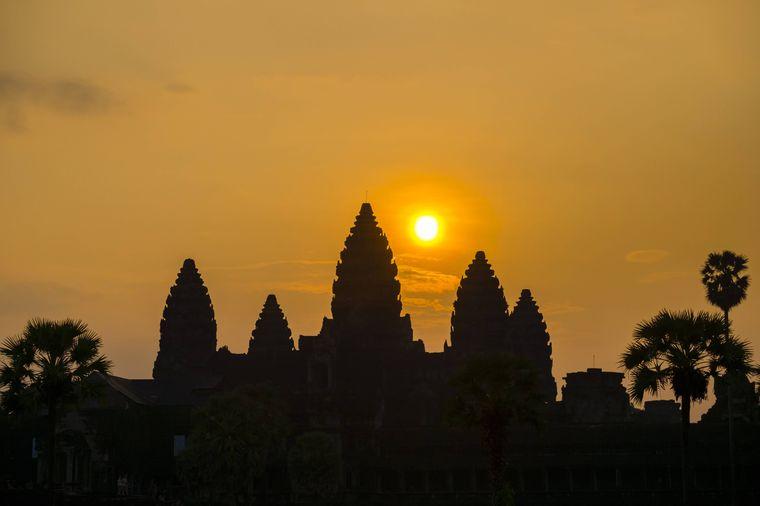 Der Angkor-Wat-Tempel.
