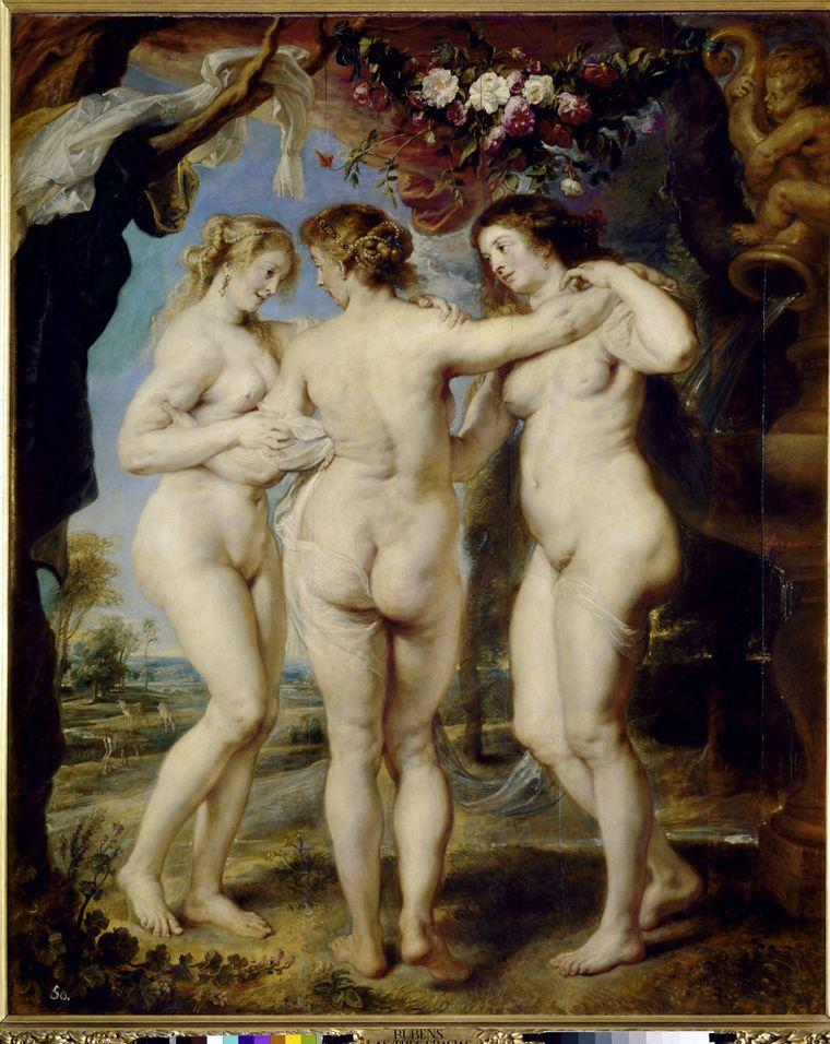 """Zu nackt für Facebook: """"Die Drei Grazien"""" von Rubens."""