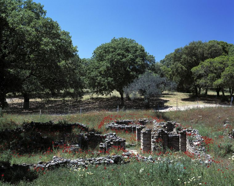 Die Klosterruine befindet sich auf dem Berg Filerimos.