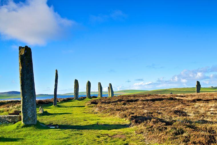 Das Stonehenge der Orkneys: der Steinkreis Ring of Brodgar.