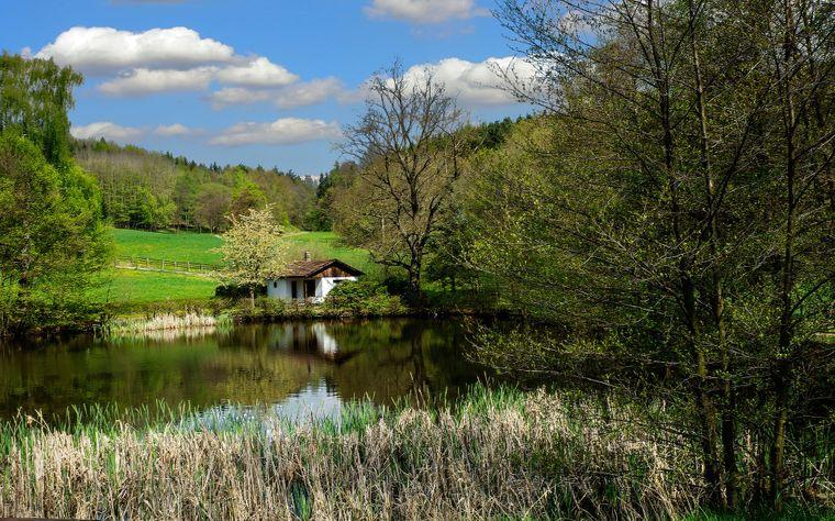 Malerische Landschaft im Thüringer Wald.