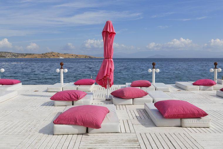 Der Türkbükü Beach in Bodrum gilt als Promi-Hotspot an der türkischen Ägais.