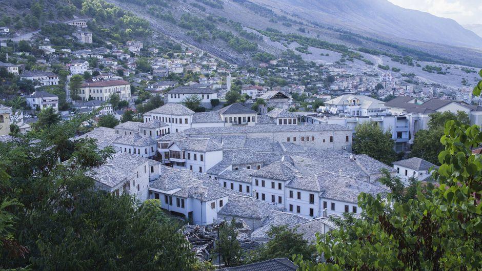 Die Altstadt von Gjirokastra im Süden von Albanien ist seit 2005 Teil des Unseco-Weltkulturerbes.