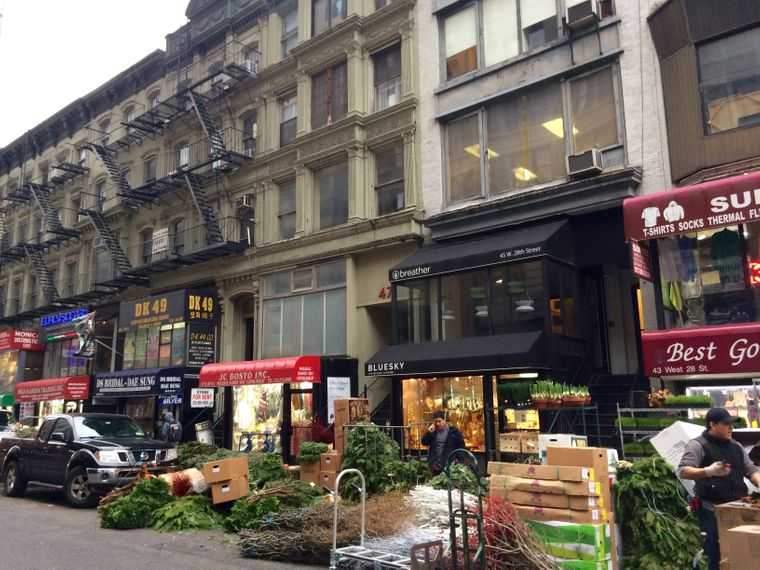 """Erinnert an das """"gute, alte New York"""": Blumengroßhändler in der 28. Straße."""