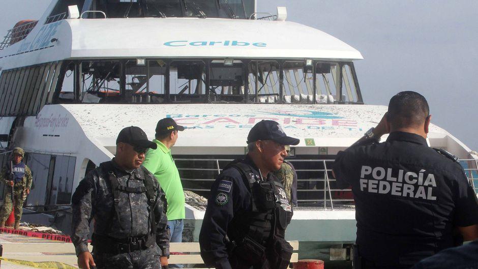 Bei einer Explosion auf einer Fähre zwischen Playa del Carmen und der Insel Cozumel in Mexiko wurden 20 Personen verletzt. Die Polizei ermittelt.