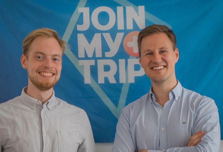 """Niels und Valentin haben """"Joinmytrip"""" gegründet."""