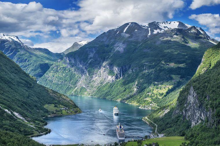 Norwegische Fjorde.